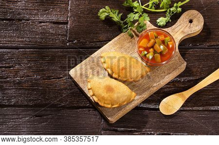 Traditional Argentine Empanadas Stuffed With Meat - Text Space