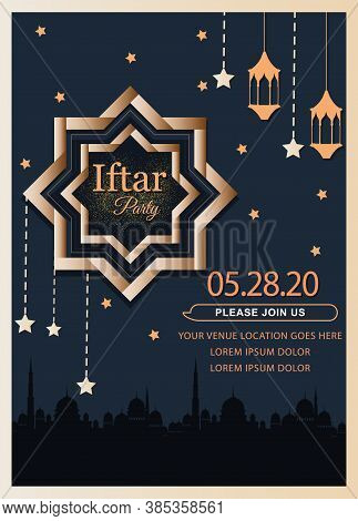 Iftar Party Celebration Concept Flyer A Beautiful Invitation Card & Flyer For Iftar Dinner Celebrati