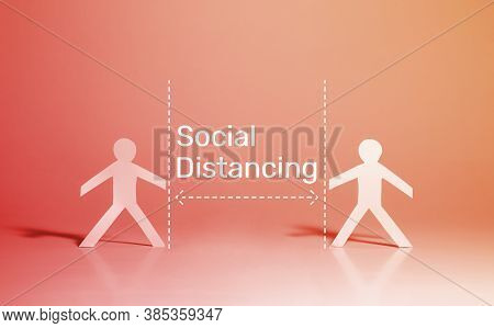 Social Distancing With Covid-19 Virus Outbreak.pandemic Situation Of Corona Virus.protection And Saf