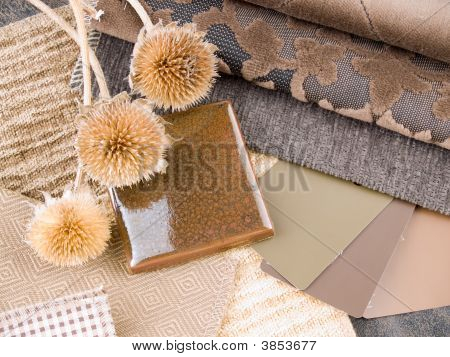 Earthy Brownish Interior Design Plan