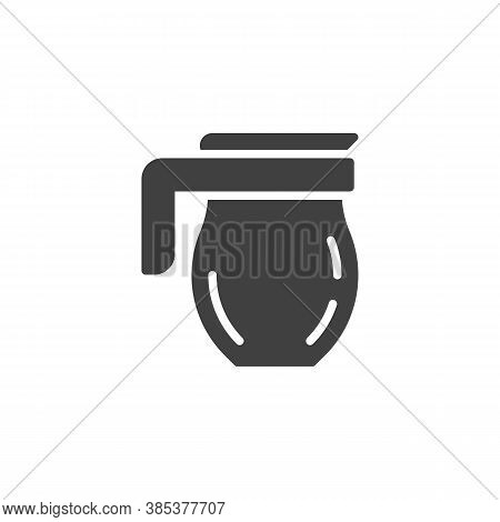 Pitcher, Carafe Vector Icon. Filled Flat Sign For Mobile Concept And Web Design. Kitchen Jug Glyph I