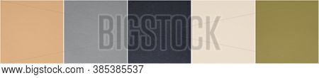Set Of Fashionable Pantone, Classic Neutrals Colors Of Spring-summer 2021 Season: Desert Mist, Ultim