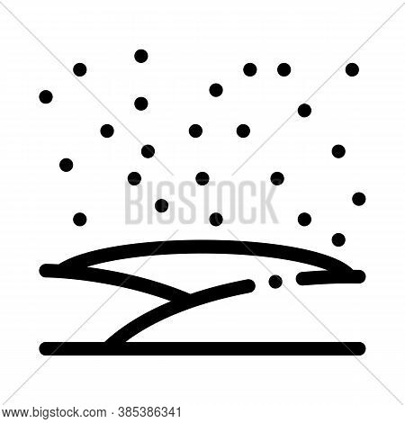 Snowy Field Icon Vector. Snowy Field Sign. Isolated Contour Symbol Illustration