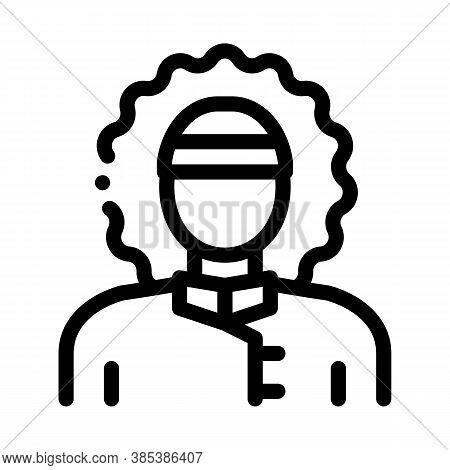 Polar Man Icon Vector. Polar Man Sign. Isolated Contour Symbol Illustration