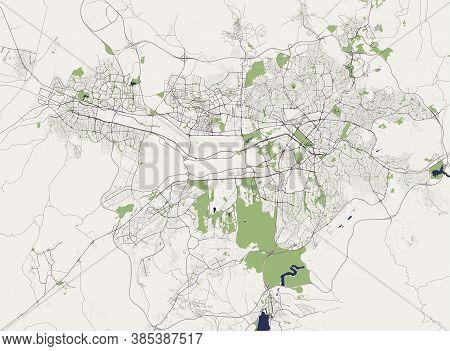 Map Of The City Of Ankara, Turkey