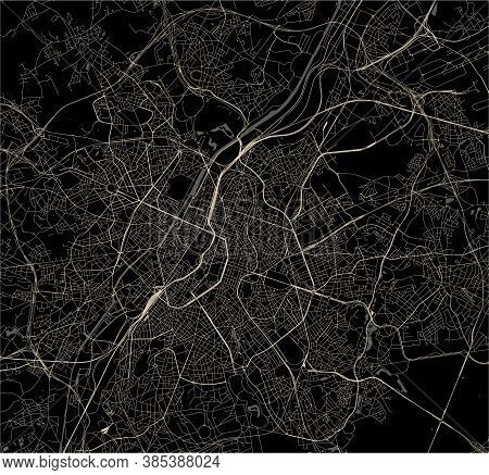Map Of The City Of Brussels, Belgium