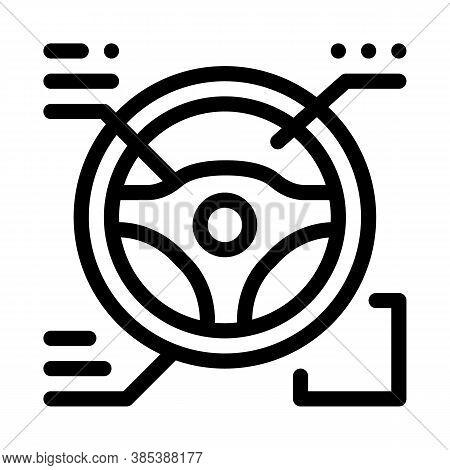 Drive Wheel Characteristics Icon Vector. Drive Wheel Characteristics Sign. Isolated Contour Symbol I
