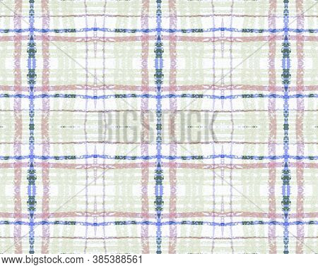 Blue And Green Tartan Prints. Seamless Checkered Twill. Scottish Picnic Texture. Rustic Retro Materi