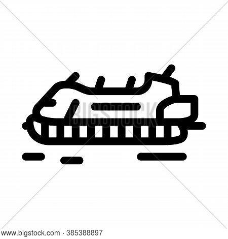 Rescue Hovercraft Icon Vector. Rescue Hovercraft Sign. Isolated Contour Symbol Illustration