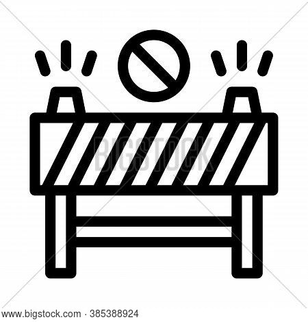 Road Barrier Icon Vector. Road Barrier Sign. Isolated Contour Symbol Illustration