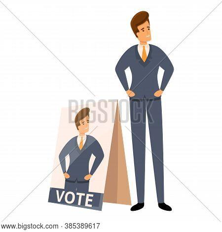 Election Vote Agitation Icon. Cartoon Of Election Vote Agitation Vector Icon For Web Design Isolated