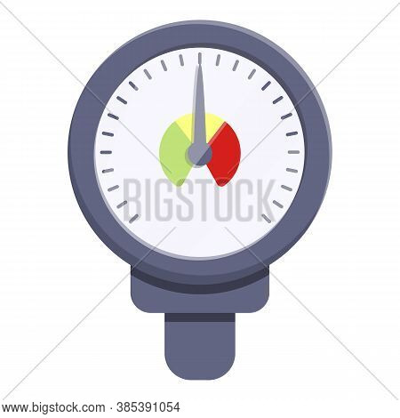 Meter Manometer Icon. Cartoon Of Meter Manometer Vector Icon For Web Design Isolated On White Backgr