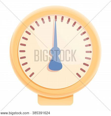 Digital Manometer Icon. Cartoon Of Digital Manometer Vector Icon For Web Design Isolated On White Ba