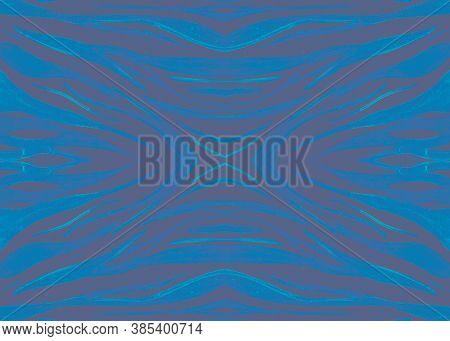 Seamless Animal Print. Watercolor Safari Ornament. Zebra Skin. Blue Abstract Fabric. Black Zoo Banne