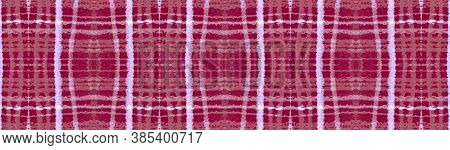 Red Christmas Check. Seamless Checkered Tile. Scotland Tartan Pattern. Vintage Retro Flannel. Tradit