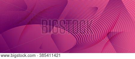 Color Flow Wave. Pink Futuristic Landing Page. Abstract Fluid Shape. Technology Texture.  Color Flow