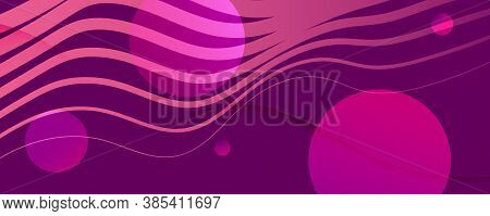 Color Flow Wave. Pink Gradient Movement. Abstract Fluid Shapes. Creative Pattern.  Color Flow Wave.