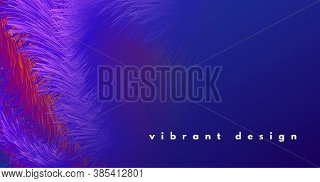 Colorful Wave 3d Liquid Shapes. Vector Digital Cover. Flow Graphic Pattern. Blue Geometric Movement.