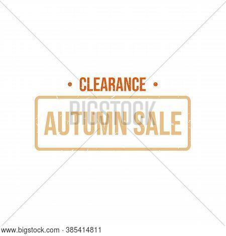 Autumn Rubber Stamp Sale Banner