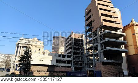 Belgrade, Serbia - January 24, 2020: Former Building Of The Ministry Of Defense Of Yugoslavia In Bel
