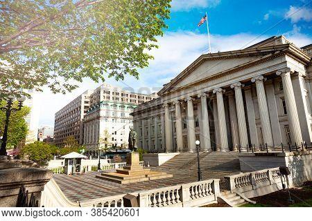 International Assets Regulatory Board Building Of Us Treasure Department In Washington, Dc