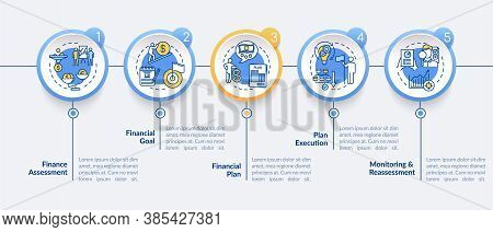 Financial Planning Process Vector Infographic Template. Budget Goal Presentation Design Elements. Da