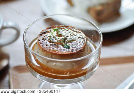 Custard, Custard Cake Or Panna Cotta Or Custard Pudding