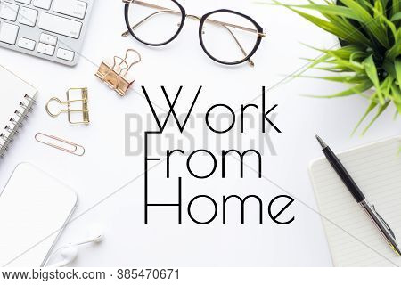 Work From Home,social Distancing Concepts On Covid-19 Outbreak Situation.government Policy Solution.
