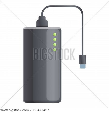 Ebook Power Bank Icon. Cartoon Of Ebook Power Bank Vector Icon For Web Design Isolated On White Back