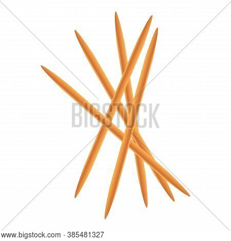 Toothpick Stack Icon. Cartoon Of Toothpick Stack Vector Icon For Web Design Isolated On White Backgr