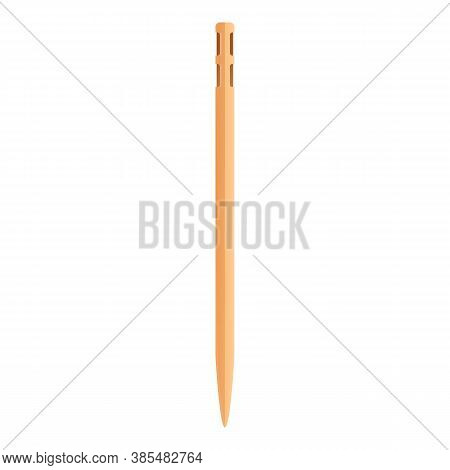 Bamboo Toothpick Icon. Cartoon Of Bamboo Toothpick Vector Icon For Web Design Isolated On White Back