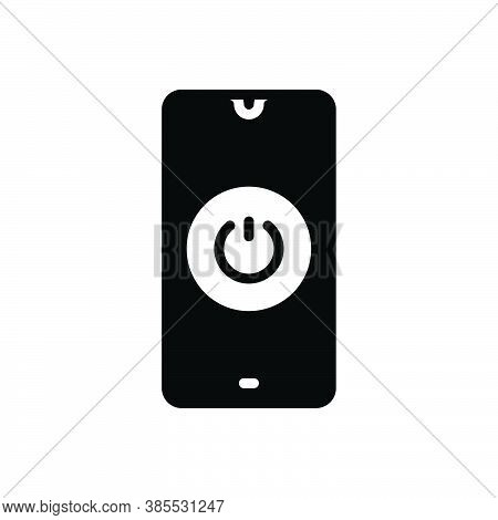 Black Solid Icon For On Off Power-switch Switch Toggle Control Electricity Energy Circuit Technology
