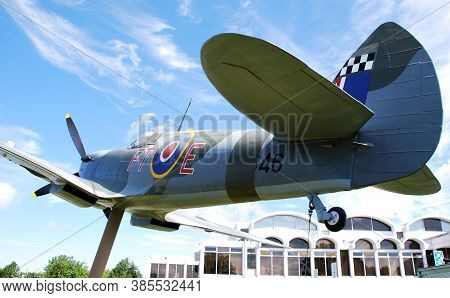 Royal Air Force (raf) Museum / Hendon, London, Uk - June 29, 2014: A Spitfire On Display At The Main