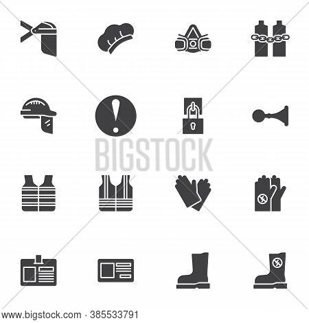 Mandatory Signs Vector Icons Set, Modern Solid Symbol Collection, Filled Style Pictogram Pack. Signs