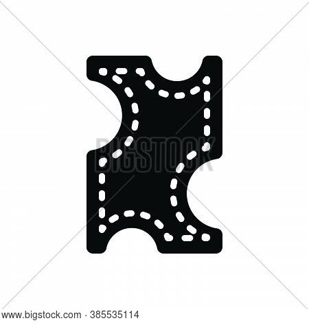 Black Solid Icon For Leather Buff Pelt Membrane Fleece Animal Costly Fashion Material