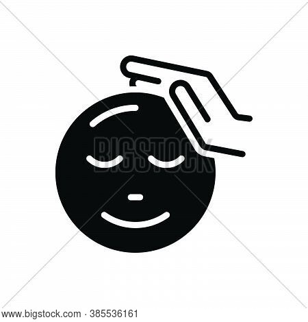 Black Solid Icon For Feel Fondle Caress Sense Reckon Presume Touch Love