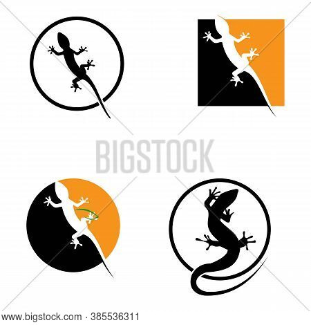 Lizard Logo Design Template Vector Icon Illustration