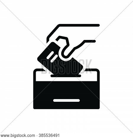 Black Solid Icon For Elect Vote-for Vote-in Ballot Select Pick Election Ballot-box Democracy Casting