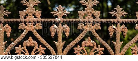 Old Lattice fence with spikes