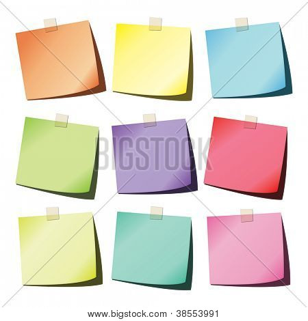 Colorful paper notes
