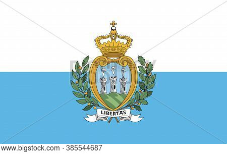 Flag Of San Marino. Page Symbol For Your Web Site Design San Marino Flag Logo, App, Ui. San Marino F