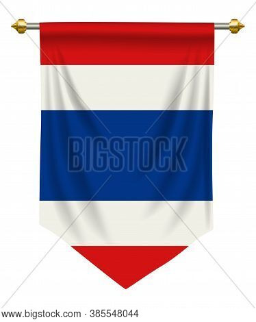 Thailand Flag Or Pennant Isolated On White