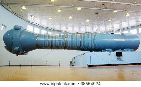 STAR TOWN - FEBRUARY 4: Centrifuge in Cosmonaut Training Center named of Gagarin on February 4, 2012 in Star town near Moscow, Russia. World largest centrifuge CF-18.
