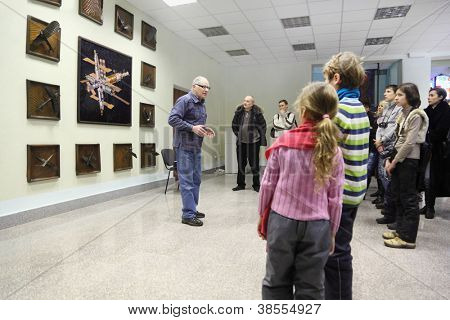 STAR TOWN - FEBRUARY 4: Excursion in Cosmonaut Training Center named of Gagarin on February 4, 2012 in Star town near Moscow, Russia. Center was established on January 11, 1960.