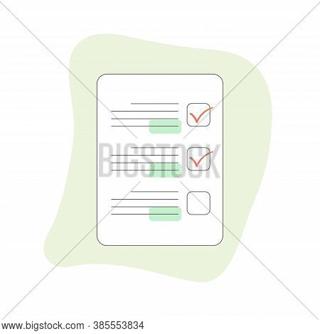 Check List With Checkboxes With Check Mark On The Clipboard And Mobile Phone Display With To Do Task
