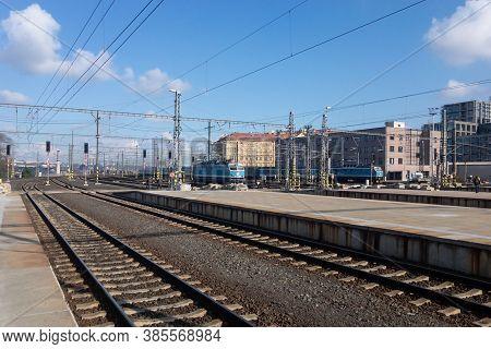 Prague, Czechia - October 30, 2019: The Main Train Stration In Capital City Prague Called Praha Hlav
