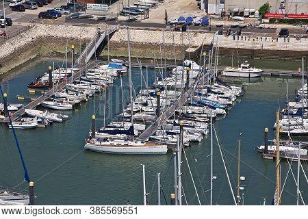 Belem, Lisbon / Portugal - 10 May 2015: The Marina In Belem, Lisbon City, Portugal