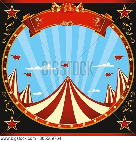 a square flyer with a circus theme for your show