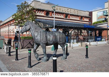 Brewery Square With An Equine Statue By Shirley Pace In Dorchester, Dorset In The Uk. Taken On The 2