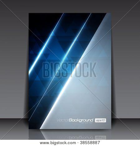 Abstrakt Modern blau Vektor-Flyer für Sie | EPS10 Design